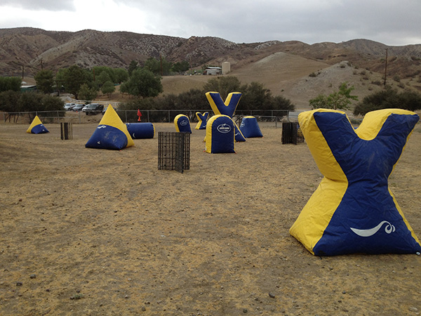 At the Acton Movie Ranch, there have been various film shoots that involve paintball scenes.