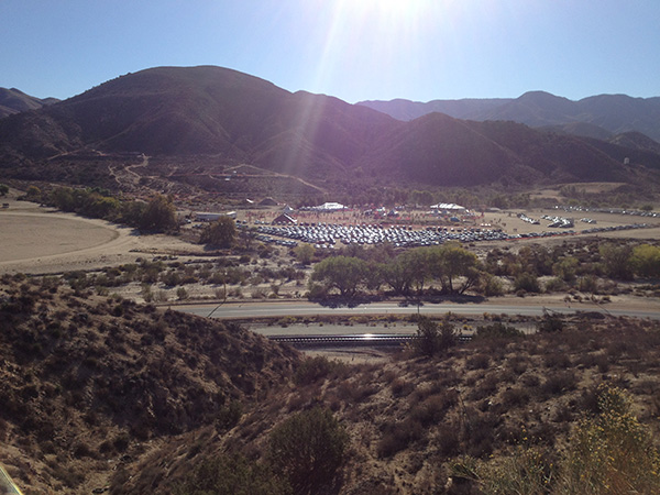 The Acton Movie Ranch has vast flat surfaced grounds to park thousands of vehicles.