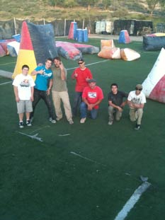 Paintball USA - After placement of turf group picture