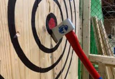 Axe Throwing at Paintball USA